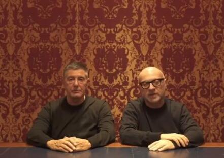 """D&G两名创始人录道歉视频 用中文说""""对不起"""""""