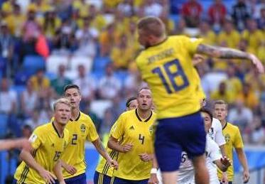 俄罗斯世界杯:韩国不敌瑞典 英格兰绝杀突尼斯