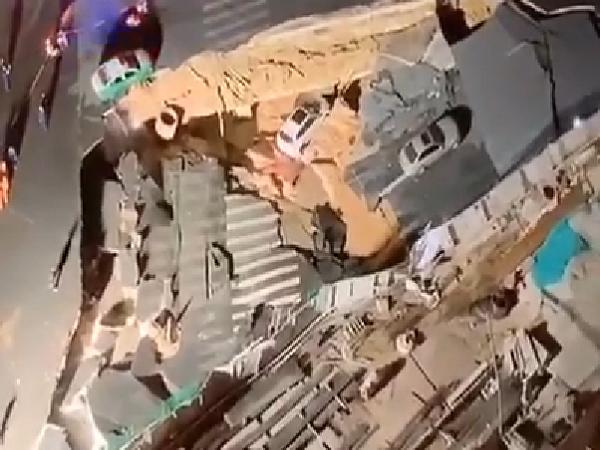 廈門市呂厝路口出現路面塌陷