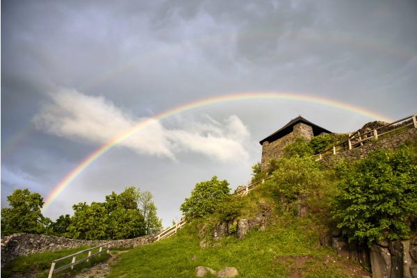 匈牙利紹爾戈陶爾揚的雙彩虹