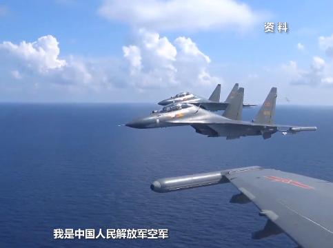 视频公布!中国空军飞行员双语驱离外机